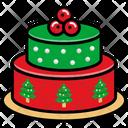 Christmas Cake Cake Celebration Icon