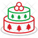 Cake Celebration Christmas Cake Icon