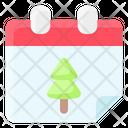 Calendar Christmas Date Icon