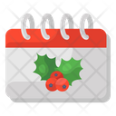 Calendar Christmas Calendar Yearbook Icon