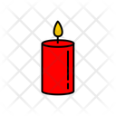 Color Christmas Candle Icon
