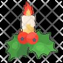 Candle Decor Christmas Decoration Christmas Candle Decor Icon