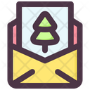 Letter Christmas Card Icon