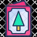 Card Christmas Tree Icon