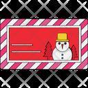 Christmas Card Christmas Greeting Wishing Card Icon