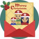 Christmas Card Letter Icon