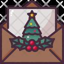 Christmas Card Invitation Mail Icon