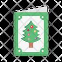 Christmas Card Invitation Icon
