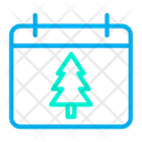 Christmas Date Icon