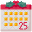 Calendar Christmas Day Schedule Icon