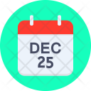 Calendar Christmas New Icon