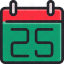 Calendar Th Christmas Icon