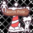 Christmas Decoration North Pole North Direction Icon