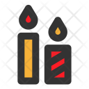 Christmas Decoration Candles Icon