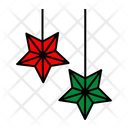Christmas decoration stars Icon
