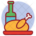 Dinner Meal Roasted Meat Chicken Turkey Icon