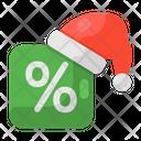 Christmas Discount Icon