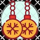 Christmas Earrings Jewellery Ornament Icon