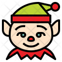 Christmas Elf Funny Icon