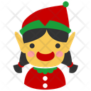 Christmas Elf Female Girl Icon