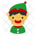 Christmas Elf Santa Assistant Character Icon