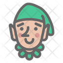 Elf Santa Christmas Icon