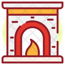 Christmas Fireplace Home Hearth Burning Fireplace Icon