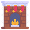 Christmas Fireplace Icon