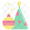 Christmas Candle Decoration Icon