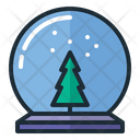 Christmas Glass Ball Christmas Tree Tree Icon