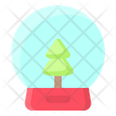Ball Christmas Glass Icon