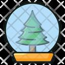 Christmas Globe Snowball Snow Glass Icon