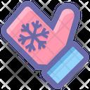 Cold Christmas Glove Icon