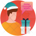 Christmas Gossip Discussion Party Gossip Icon