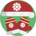 Christmas Hat Gloves Icon