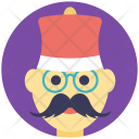 Christmas Hipster Icon