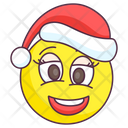 Christmas Laughter Emoji Laugh Expression Christmas Laugh Emotag Icon