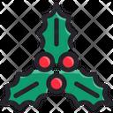 Christmas Leave Decoration Icon