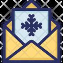 Christmas Invitation Letter Icon