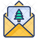 Card Christmas Letter Greetings Icon