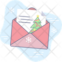 Christmas Holiday Letter Icon