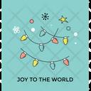Christmas Lights Joy Icon
