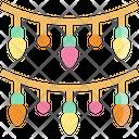 Christmas Lights Decoration Icon