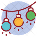 Decorative Balls Christmas Lights Party Lights Icon