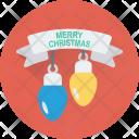 Christmas Lights Bulbs Icon