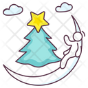 Christmas Moon Icon