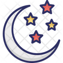 Christmas Night Moon Night Icon