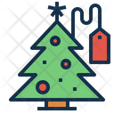 Seasonal Christmas Sale Icon
