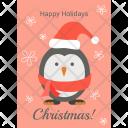 Christmas Penguin Happy Icon