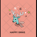 Christmas Reindeer Face Icon